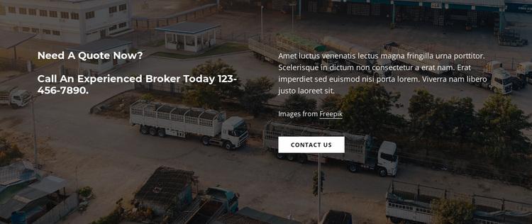Text on dark image background Website Design