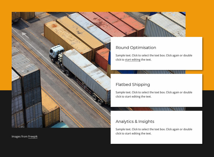 Container shipping company Website Mockup