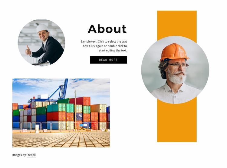 About transportation company Html Website Builder