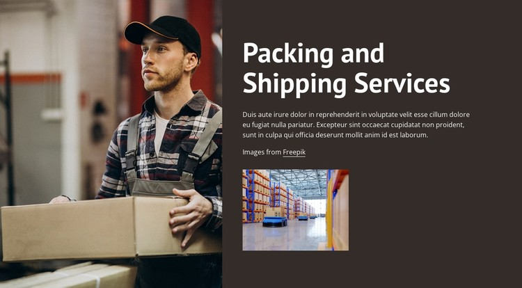 Packing and shipping services CSS Template