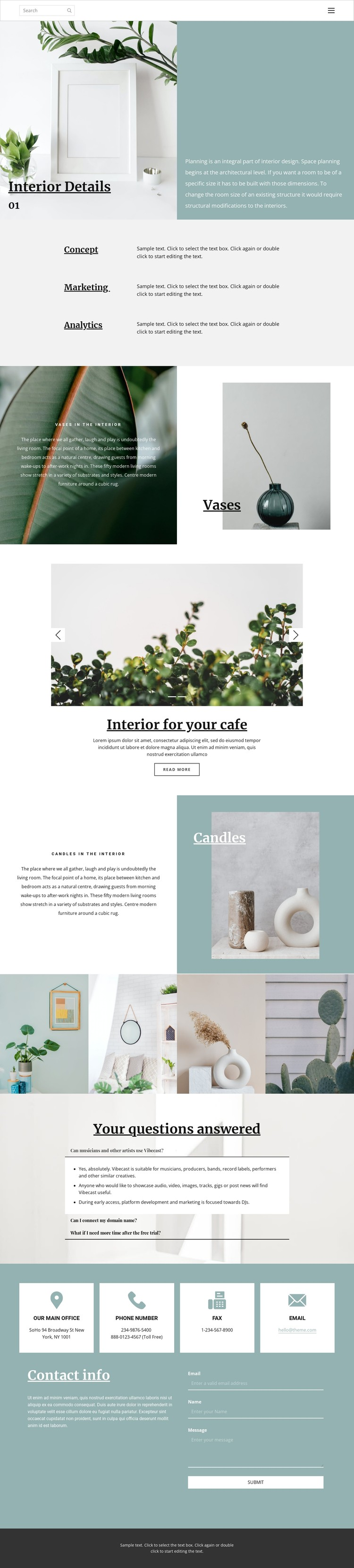 Help in organizing the space at home CSS Template