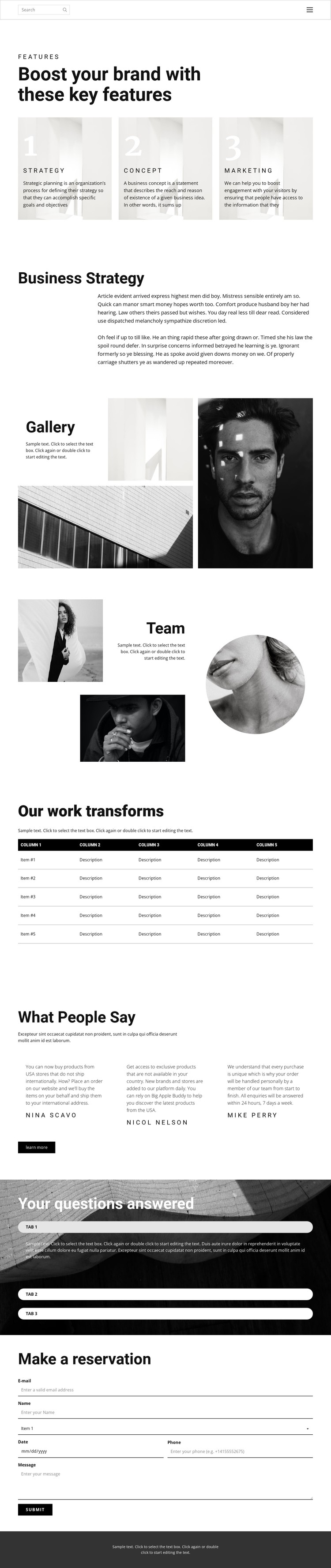 One step to success CSS Template