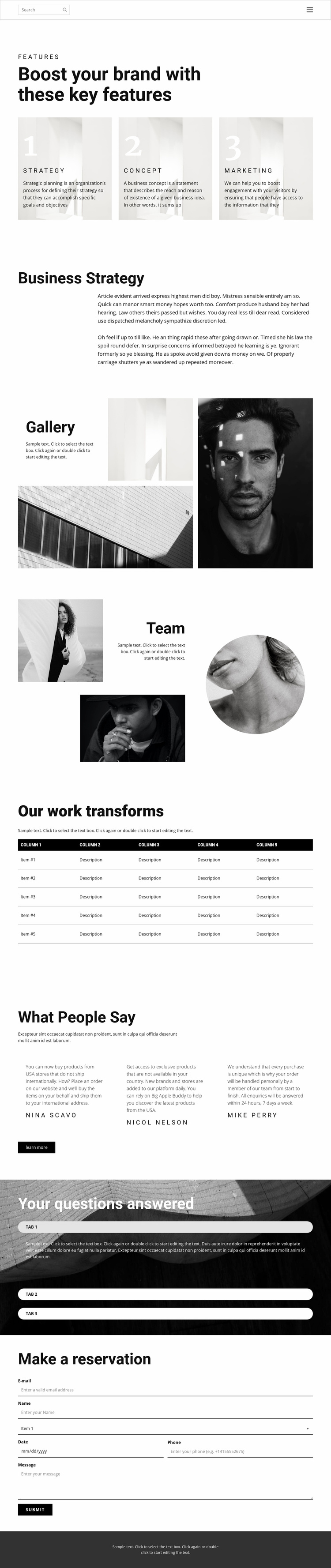 One step to success Website Template