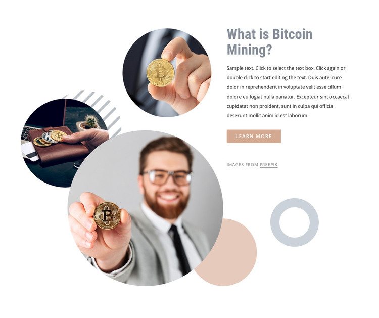Investing money into bitcoin HTML Template