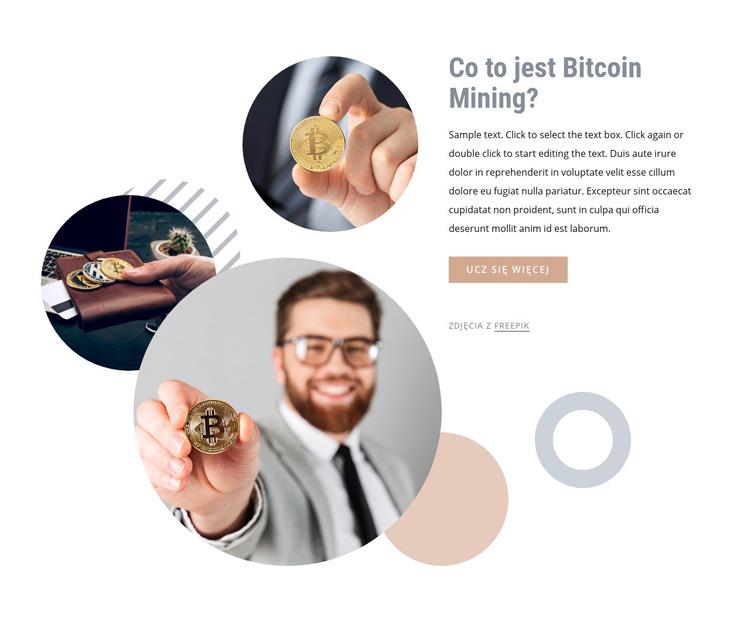 Inwestowanie pieniędzy w bitcoin Szablon witryny sieci Web