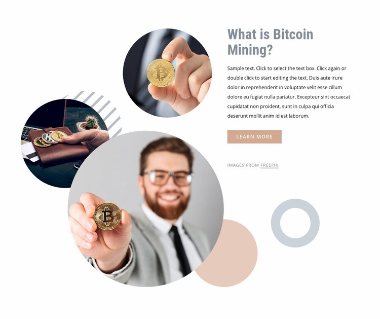 Investing money into bitcoin Web Page Design