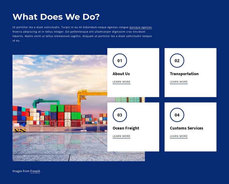 Shipping business Website Builder Software