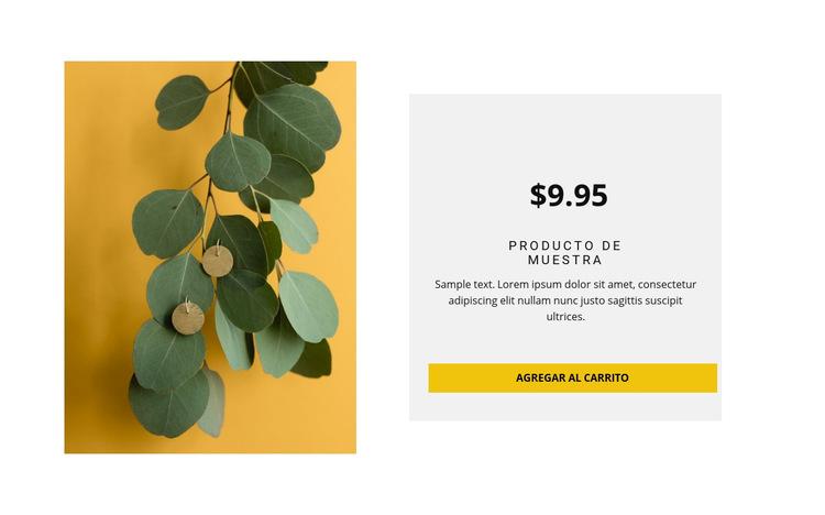 Pendientes de estilo ecológico Plantilla de sitio web