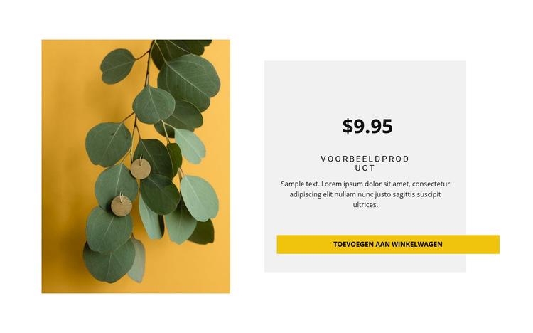 Eco-stijl oorbellen Website sjabloon