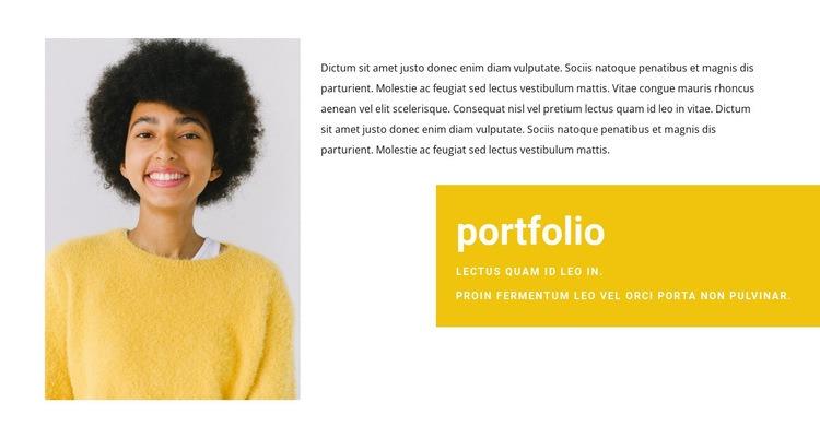 Sales Manager Portfolio Web Page Designer