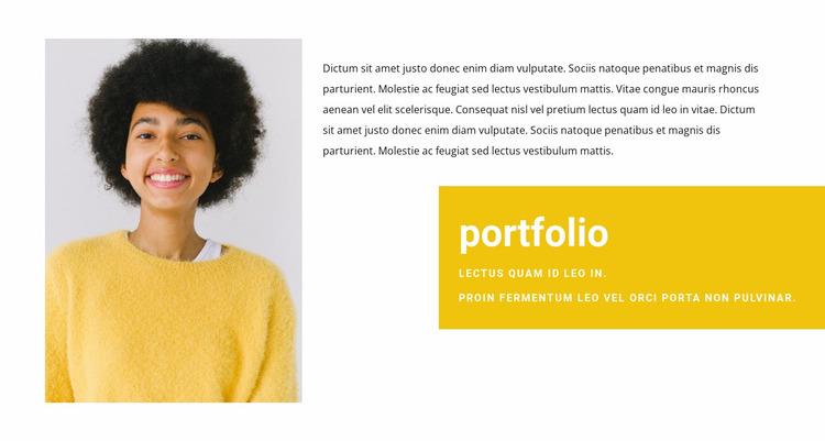 Sales Manager Portfolio Website Mockup