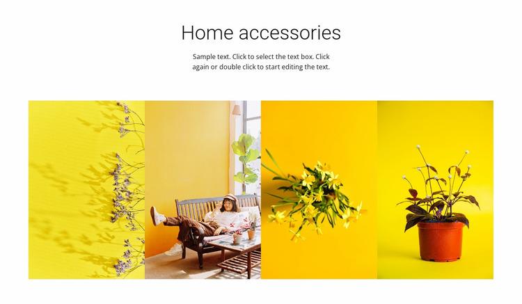 Home and garden accessories Website Mockup