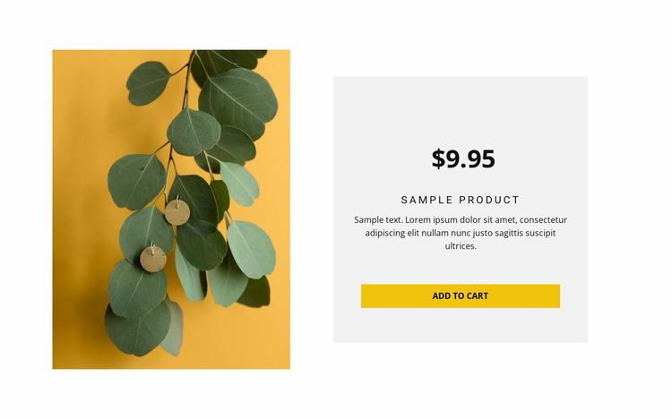 Eco-style earrings Website Template