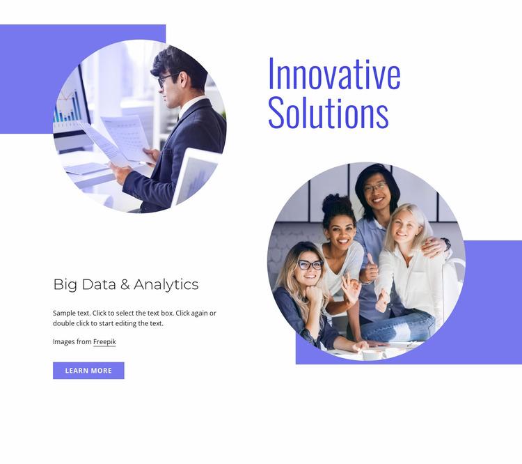 Innovative solutions Website Mockup