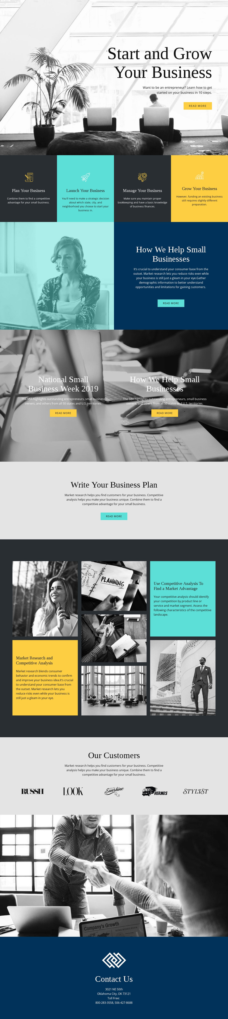 Start and grow your business WordPress Theme