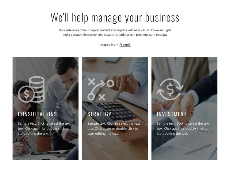 Financial and investment consulting Html Code Example