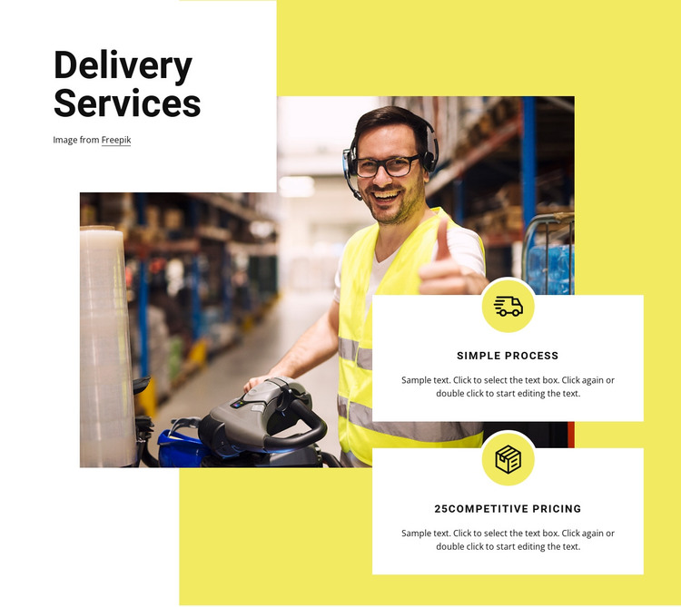 Delivery services HTML Template