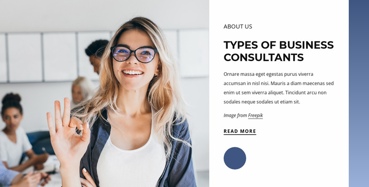Types of business consultants Website Template