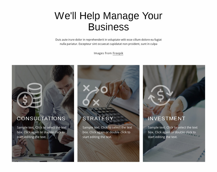 Financial and investment consulting Website Template