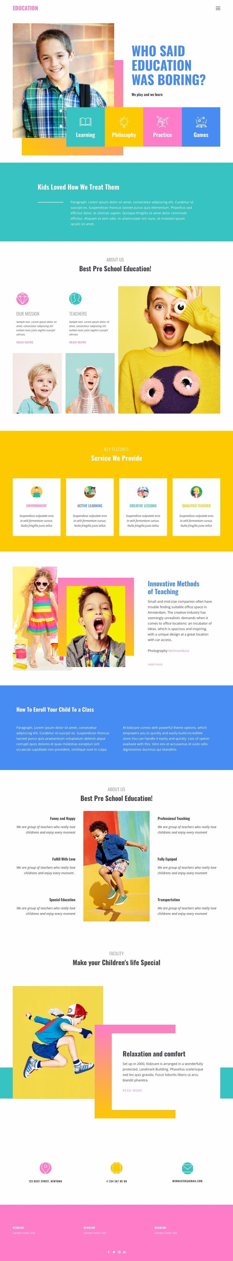 Happiness of best education Website Builder