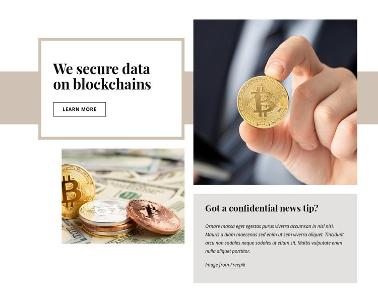 Cryptocurrency investment Web Page Design