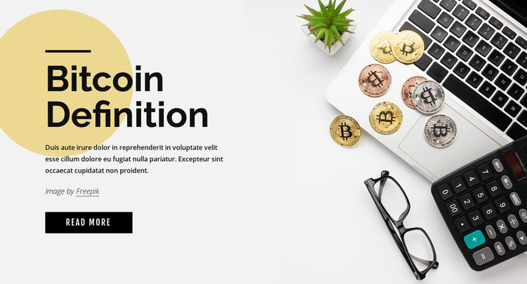 How to invest in bitcoin Website Mockup