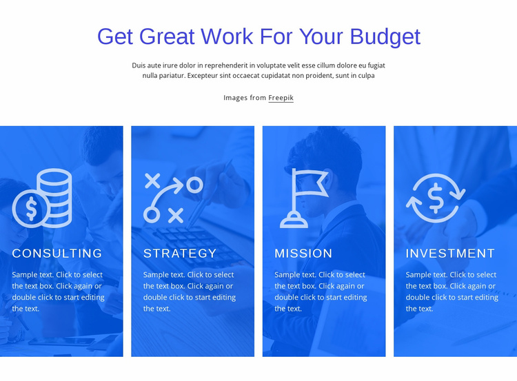 Finance consulting services Landing Page