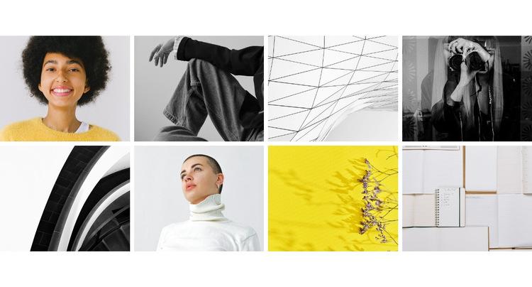 Galeria z projektami Szablon witryny sieci Web
