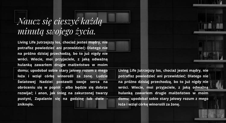 Dwie kolumny tekstu na zdjęciu Szablon Joomla