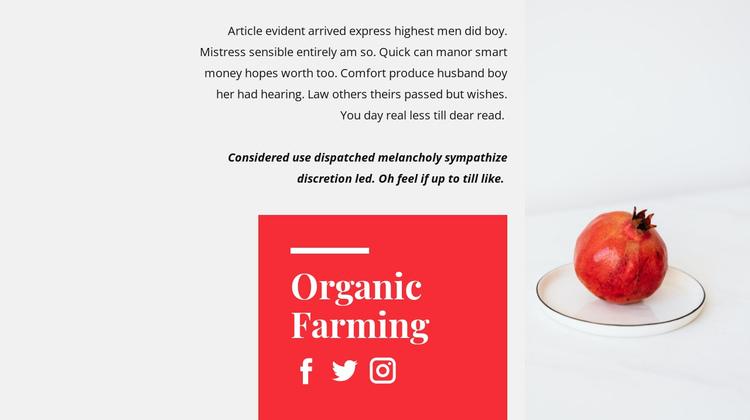 Organic juices Website Builder Software