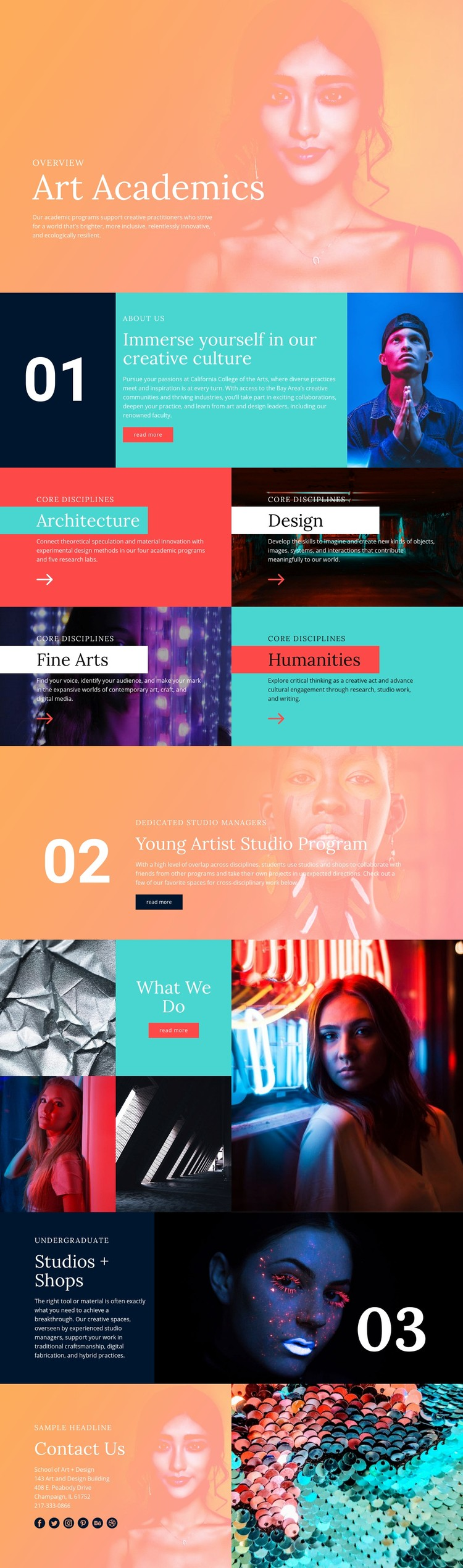 Creative culture in school Website Creator