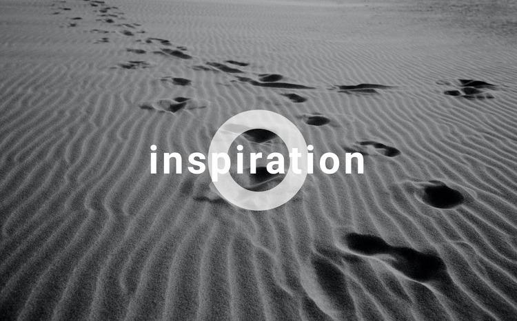 Get inspired Website Mockup