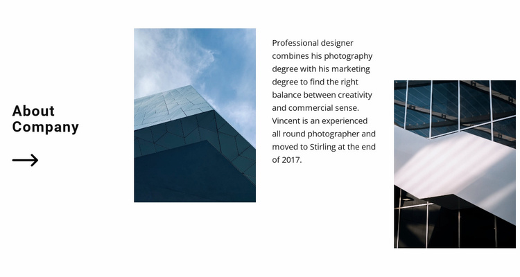 Smooth lines in facades Website Template