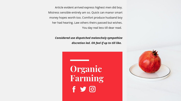 Organic juices WordPress Theme