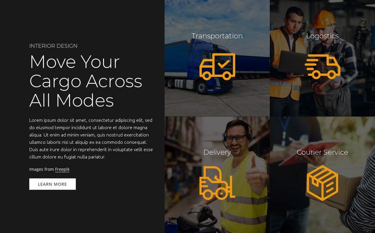 Transportation services Website Mockup