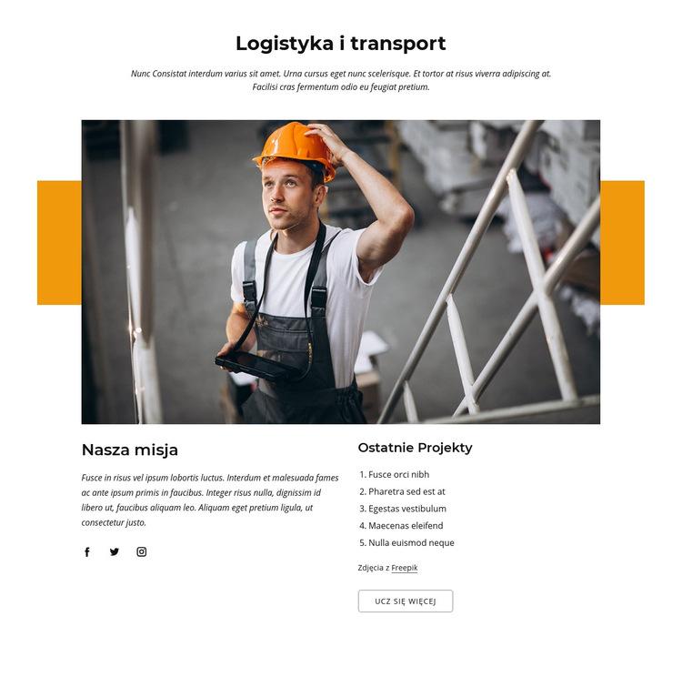 Firma logistyczno-transportowa Szablon witryny sieci Web