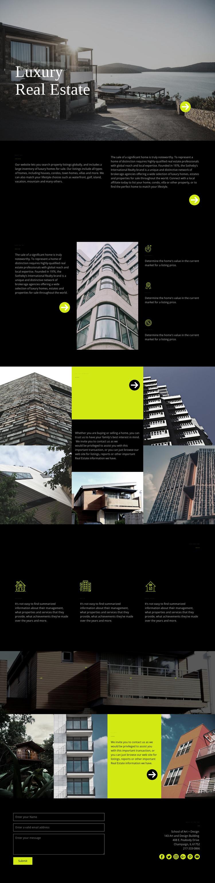 Luxury real estate Joomla Template