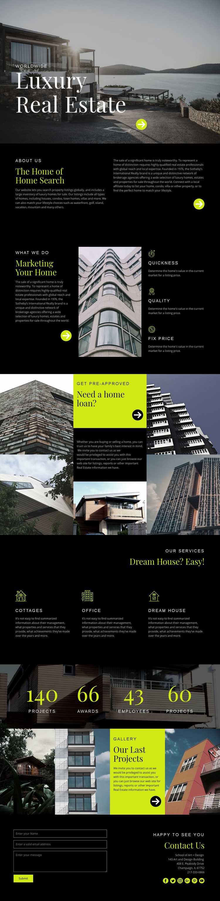 Luxury real estate Web Page Designer