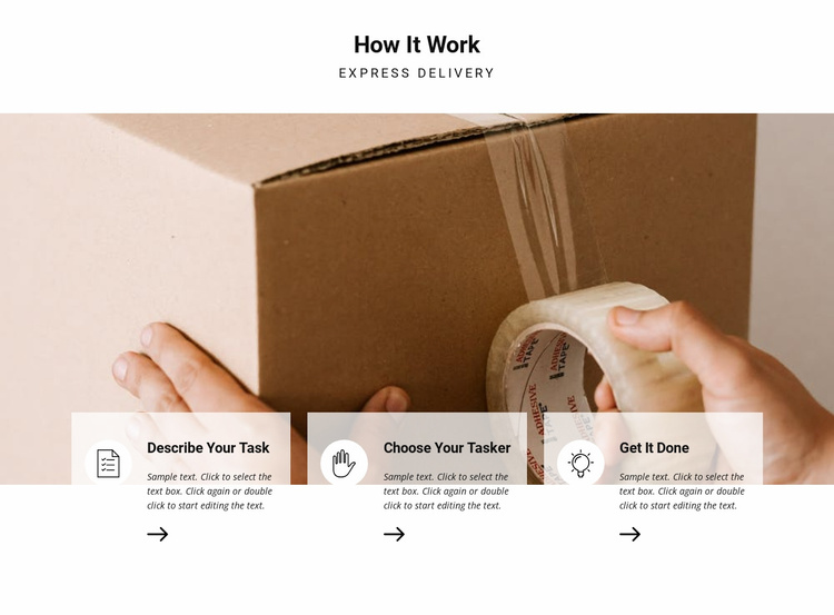 How delivery works Website Template