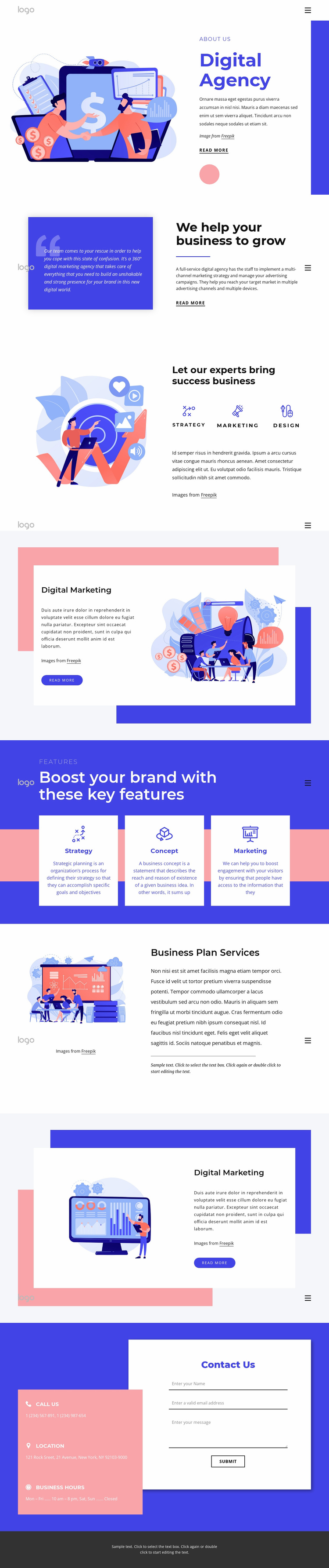 20 years of expertise in brand experience Website Template
