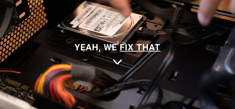 Computer repair HTML Template