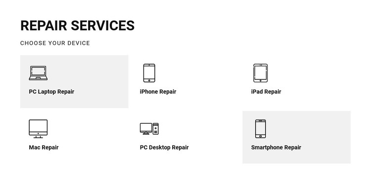 Repair services Web Page Design
