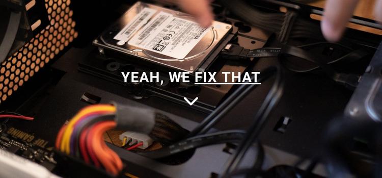 Computer repair Website Mockup