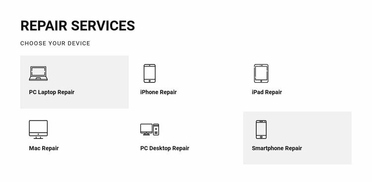 Repair services Website Mockup