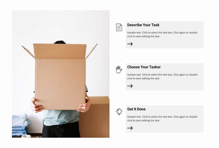 How does the fast delivery service work Website Template