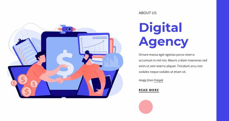 Top digital marketing agency Website Template