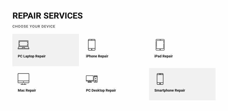 Repair services WordPress Website Builder
