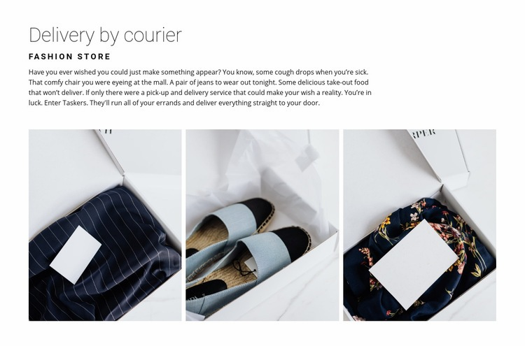 Delivery from a fashion store Wysiwyg Editor Html