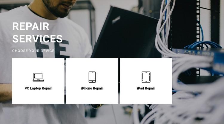 Repair of any equipment CSS Template