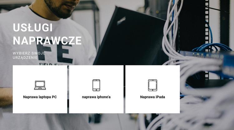 Naprawa dowolnego sprzętu Szablon witryny sieci Web